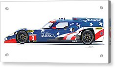 Deltawing Le Mans Racer Illustration Acrylic Print