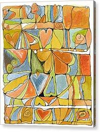 Delusions Of The Heart Acrylic Print by Linda Kay Thomas