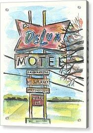 Delux Motel Acrylic Print by Matt Gaudian