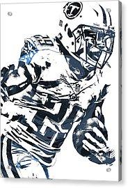 Acrylic Print featuring the mixed media Demarco Murray Tennessee Titans Pixel Art 2 by Joe Hamilton