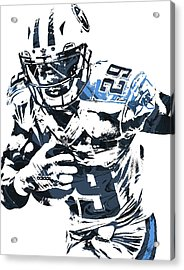 Demarco Murray Tennessee Titans Pixel Art Acrylic Print by Joe Hamilton