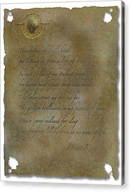Demi King's Love Poem Acrylic Print