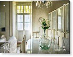 Acrylic Print featuring the photograph Demijohn And Window Color Cadiz Spain by Pablo Avanzini