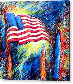 Democratize Acrylic Print by Dennis McCann
