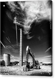 Acrylic Print featuring the photograph Demolition Sky by Alan Raasch