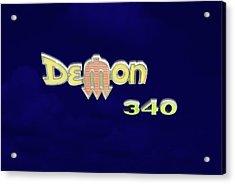 Acrylic Print featuring the photograph Demon 340 Emblem by Mike McGlothlen