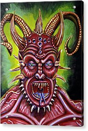 Demon Acrylic Print by Chris Benice