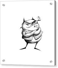 Demon Drawing Acrylic Print