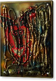 Acrylic Print featuring the painting Demon Inside by Lisa Piper