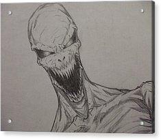 Demon Zombie Acrylic Print by John Prestipino