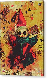 Demonic Possessed Joker Doll Acrylic Print