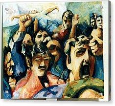 Demonstration - Art In Lebanon Acrylic Print by Zaher Bizri