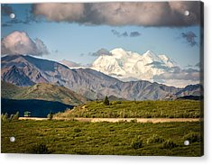 Acrylic Print featuring the photograph Denali Appears by Claudia Abbott