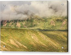 Denali National Park Mountain Under Clouds Acrylic Print