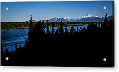 Denali Over The Susitna River Acrylic Print