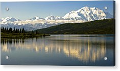Denali Reflection Acrylic Print by Jen Morrison
