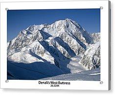 Denali West Buttress Acrylic Print