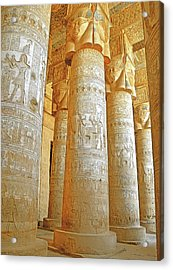Dendera Temple Acrylic Print by Nigel Fletcher-Jones