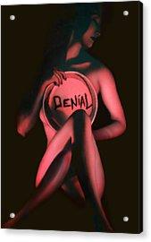 Denial - Self Portrait Acrylic Print by Jaeda DeWalt