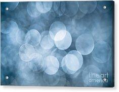 Acrylic Print featuring the photograph Denim Blue Bokeh by Jan Bickerton