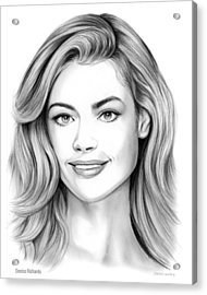 Denise Richards Acrylic Print by Greg Joens