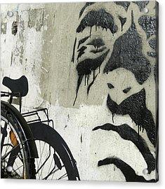 Denmark, Copenhagen Graffiti On Wall Acrylic Print by Keenpress