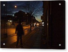 Denmark, Copenhagen, Man Walking Acrylic Print by Keenpress