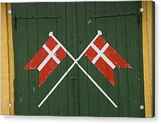 Denmark, Dannebrog, Danish Flag Acrylic Print by Keenpress