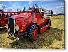 Dennis Fire Engine Acrylic Print by Nichola Denny