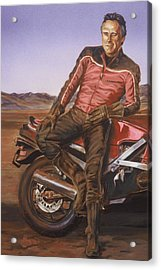 Dennis Hopper Acrylic Print by Bryan Bustard