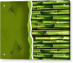 Dense Bamboo Stalk With Copyspace Acrylic Print by Sandra Cunningham