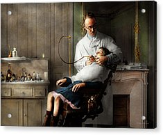 Acrylic Print featuring the photograph Dentist - Good Oral Hygiene 1918  by Mike Savad