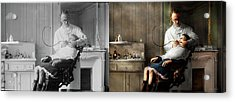 Acrylic Print featuring the photograph Dentist - Good Oral Hygiene 1918 - Side By Side by Mike Savad