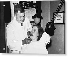 Dentist Has Cure For Pyorrhea Acrylic Print by Underwood Archives