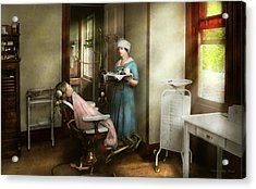 Acrylic Print featuring the photograph Dentist - Patients Is A Virtue 1920 by Mike Savad