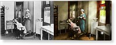 Acrylic Print featuring the photograph Dentist - Patients Is A Virtue 1920 - Side By Side by Mike Savad