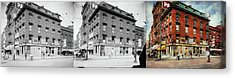 Acrylic Print featuring the photograph Dentist - Peerless Painless Dental Parlors 1910 - Side By Side by Mike Savad