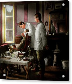 Acrylic Print featuring the photograph Dentist - The Horrors Of War 1917 by Mike Savad