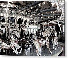 Dentzel Menagerie Carousel - Glen Echo Park Maryland Acrylic Print by Fareeha Khawaja