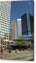 Acrylic Print featuring the photograph Denver Architecture by Frank Romeo