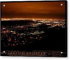 Denver Area At Night From Lookout Mountain Acrylic Print