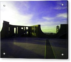Acrylic Print featuring the photograph Denver Art Museum Deck 1 by Marilyn Hunt