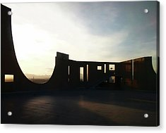 Acrylic Print featuring the photograph Denver Art Museum Ponti Deck by Marilyn Hunt