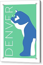 Denver Blue Bear/aqua Acrylic Print