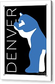 Denver Blue Bear/black Acrylic Print