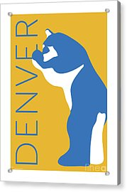 Denver Blue Bear/gold Acrylic Print