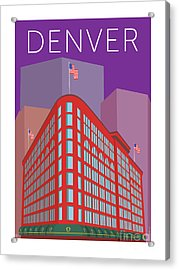 Denver Brown Palace/purple Acrylic Print