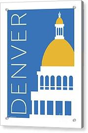 Denver Capitol/blue Acrylic Print