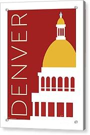 Denver Capitol/maroon Acrylic Print
