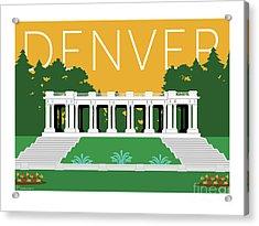 Denver Cheesman Park/gold Acrylic Print